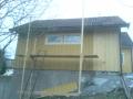 Nya fönster och förlängning gäststuga från norr